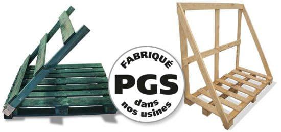 PGS reverse palettes à dosseret repliables palettes à dosseret