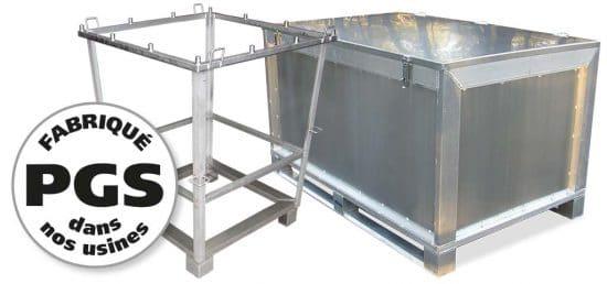 PGS reverse caisses et supports métal